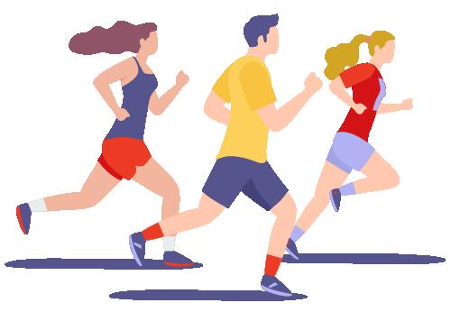 Illustration Passionnés de running